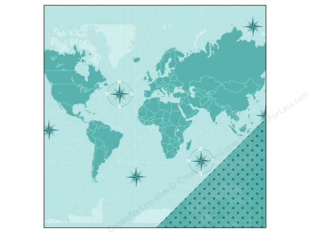 Imaginisce Paper 12x12 Perfect Vacation World Traveler (25 sheets)