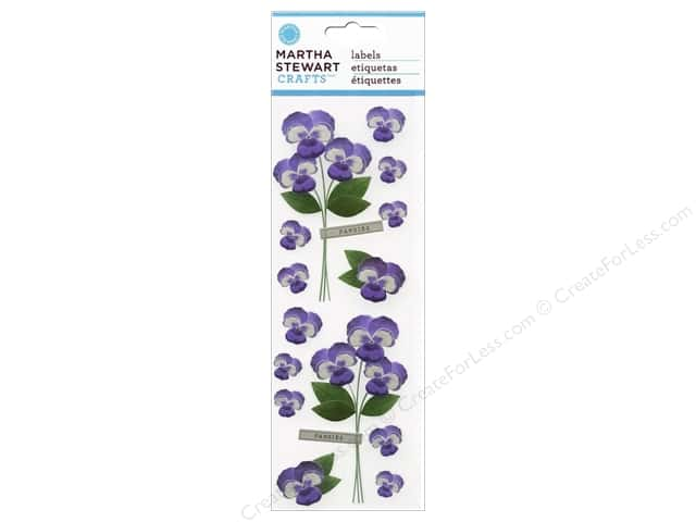 Martha Stewart Sticker Millinery Pansies