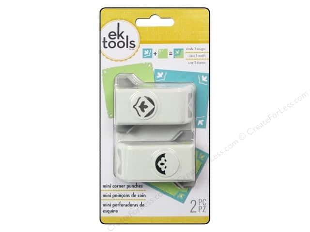 EK Success Mini Corner Punch Set 2 pc. Sentiment