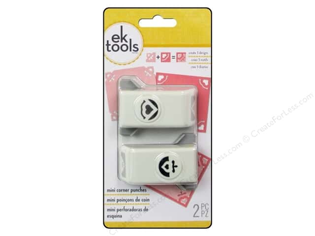EK Success Mini Corner Punch Set 2 pc. Heart