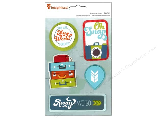 Imaginisce Stickers Perfect Vacation My World 3D