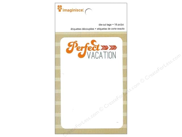 Imaginisce Paper Pad Perfect Vacation Travel Die Cut Tags