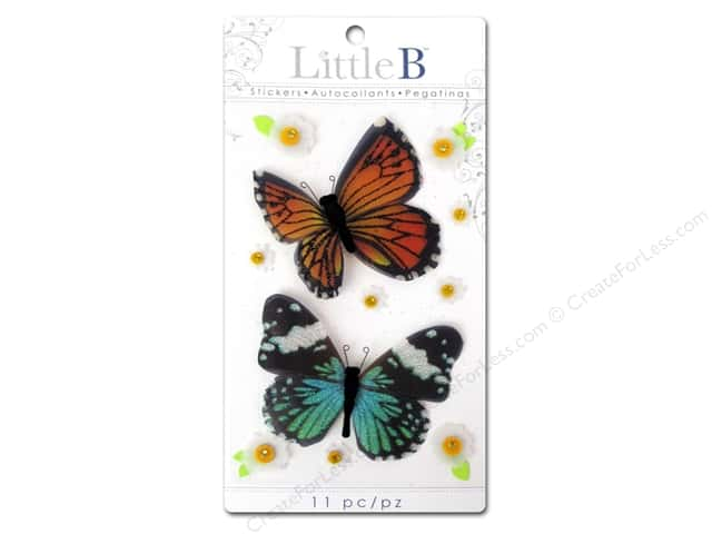Little B Sticker Medium Butterflies