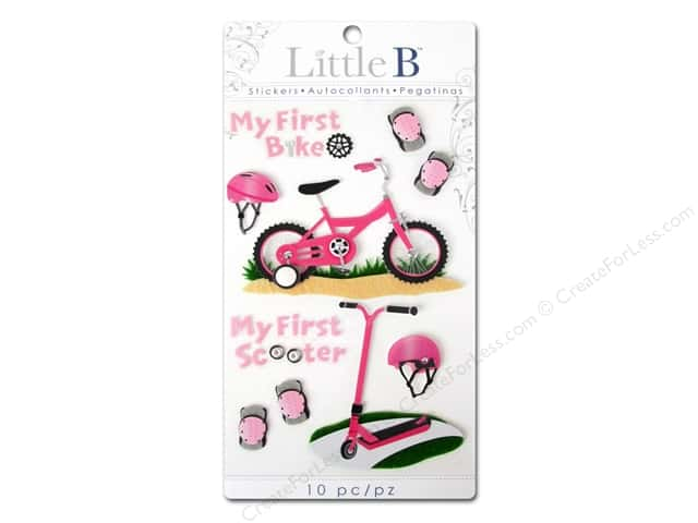 Little B Sticker Medium First Bicycle Girl