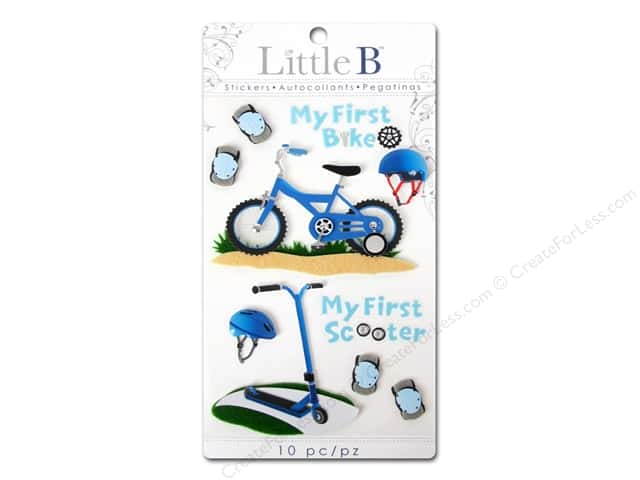 Little B Sticker Medium First Bicycle Boy