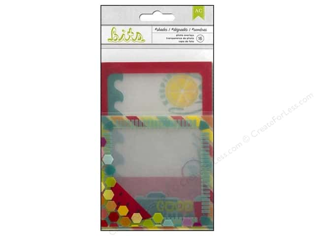 American Crafts Bits Photo Overlays Summer Shades