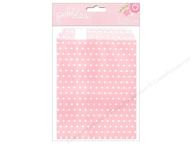 Pebbles Embellishment Special Delivery Girl Bag Light Pink 24pc