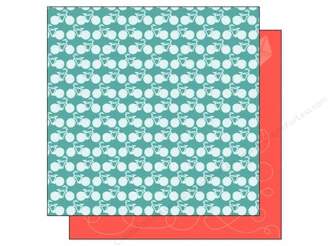 American Crafts 12 x 12 in. Paper Summer Collecton Bicycles (25 sheets)