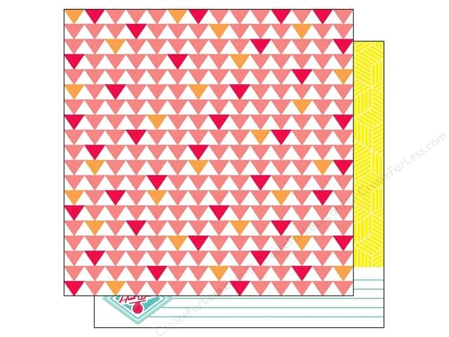 American Crafts 12 x 12 in. Paper Summer Collecton Heat Wave (25 sheets)