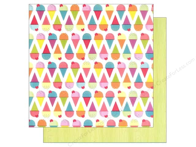 American Crafts 12 x 12 in. Paper Summer Collecton Cold Treats (25 sheets)