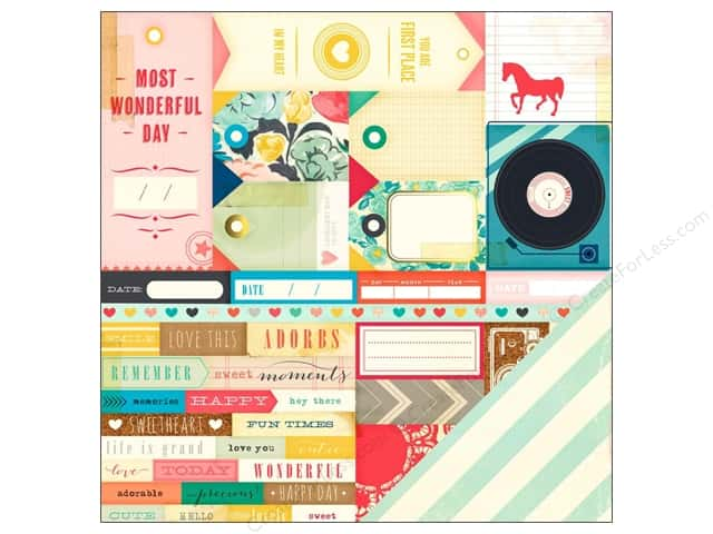 Crate Paper 12 x 12 in. Paper Maggie Holmes Styleboard Inspiration (25 sheets)