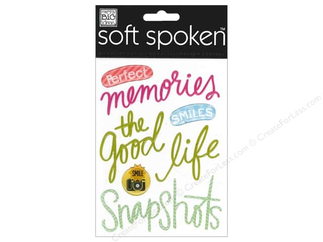 Me & My Big Ideas Soft Spoken Stickers Jelly Perfect Memories