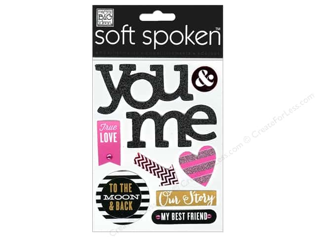 Me & My Big Ideas Soft Spoken Stickers True Love You & Me