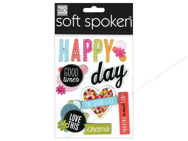 Me & My Big Ideas Soft Spoken Stickers Happy Days