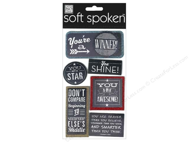 Me & My Big Ideas Soft Spoken Stickers Chalk You Are A Winner