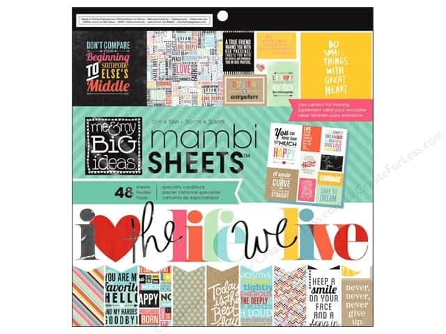 Me & My Big Ideas Sheets Cardstock Pad 12 x 12 in. Quoted