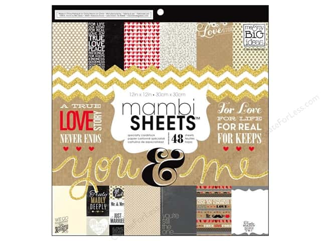 Me & My Big Ideas Sheets Cardstock Pad 12 x 12 in. You & Me