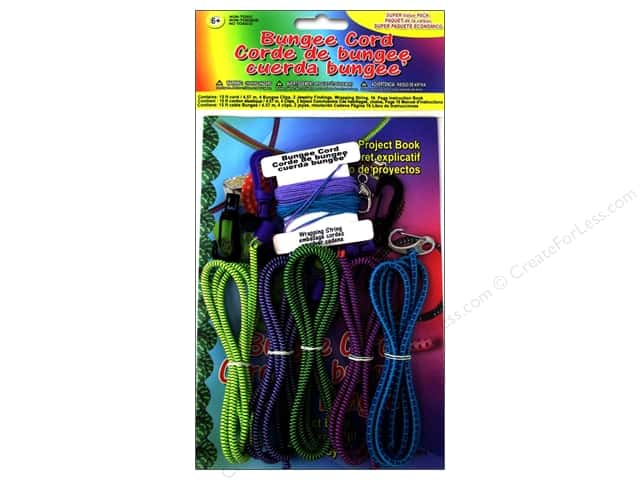 Pepperell Bungee Cord Super Value Pack Assorted Colors