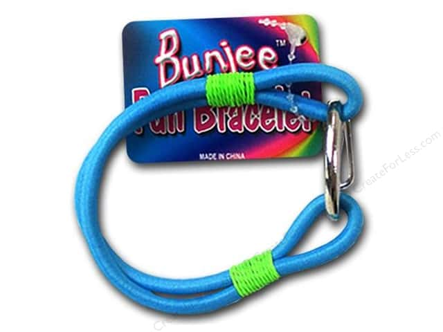 Pepperell Bungee Cord Bracelet Turquoise/Green