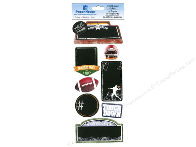 Paper House Sticker Chalkboard Football Star