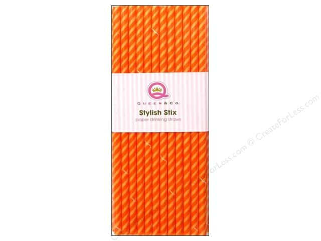 Queen&Co Stylish Stix Juicy Stripes Orange Crush 25pc