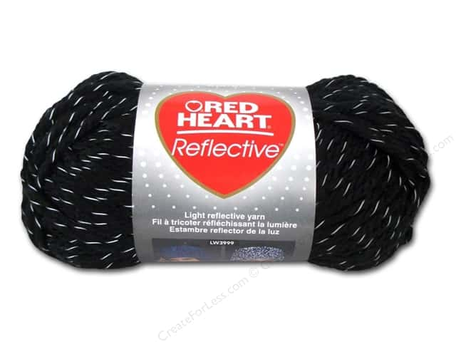 Red Heart Reflective Yarn 88 yd. #8012 Black