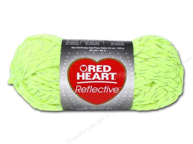 Red Heart Reflective Yarn #8242 Neon Yellow 88 yd.