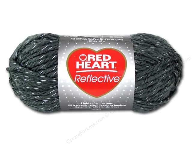 Red Heart Reflective Yarn #8429 Grey 88 yd.