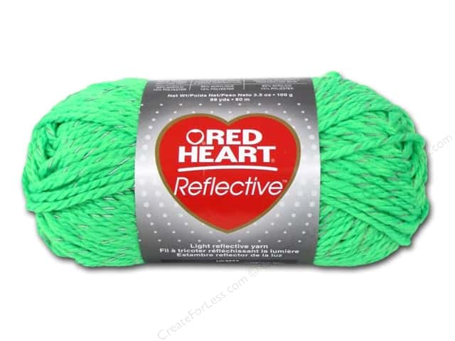 Red Heart Reflective Yarn #8671 Neon Green 88 yd.
