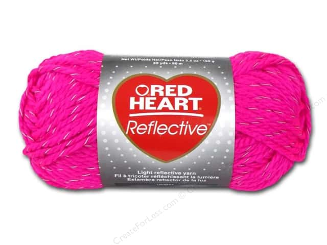 Red Heart Reflective Yarn  #8704 Neon Pink 88 yd.