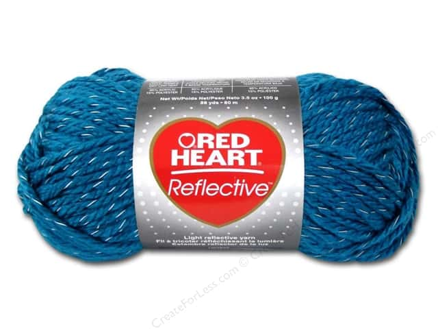 Red Heart Reflective Yarn 88 yd. #8884 Peacock
