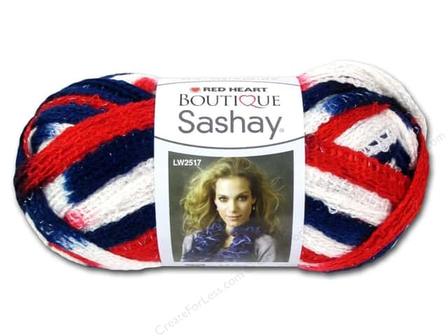 Red Heart Boutique Sashay Yarn #1947 Patriotic 30 yd.