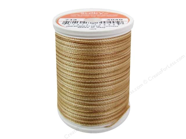 Sulky Blendables Cotton Thread 12 wt. 330 yd. #4040 Biscuit