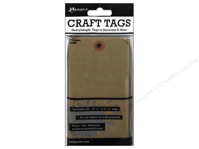 Ranger Essentials Surfaces Tag #8 Kraft 20pc