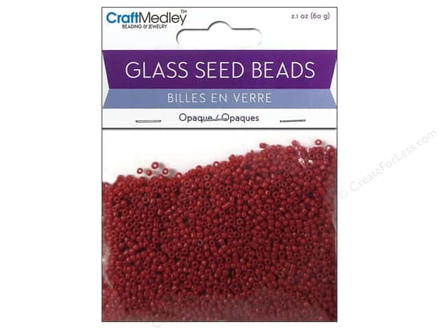 Multicraft Bead Seed 12/0 Opaque Red