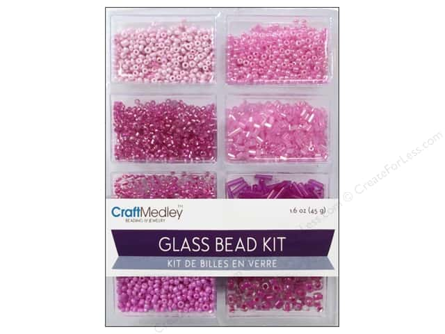 Multicraft Bead Glass Kit Mix Blush