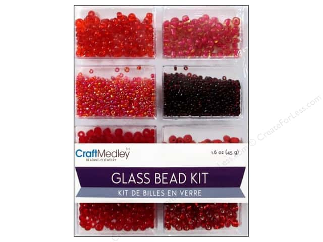 Multicraft Bead Glass Kit Mix Rouge