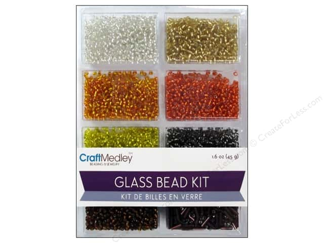 Multicraft Bead Glass Kit Mix Dazzling Metallics