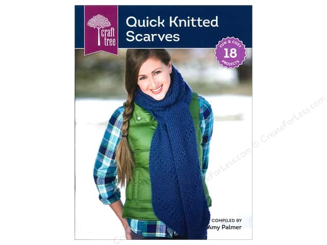 Interweave Press Craft Tree Quick Knitted Scarves Book