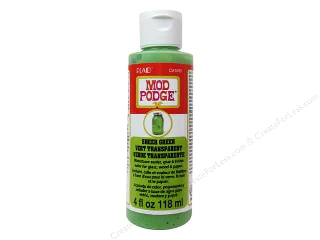 Plaid Mod Podge Sheer Color 4 oz. Green