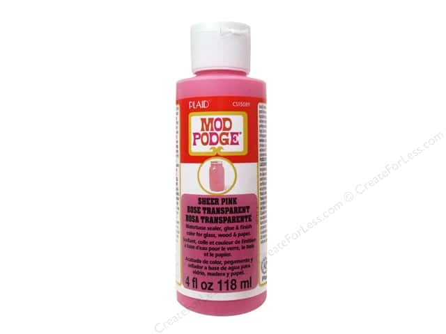 Plaid Mod Podge Sheer Color 4 oz. Pink