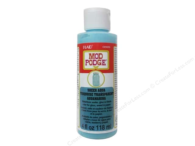 Plaid Mod Podge Sheer Color 4 oz. Aqua