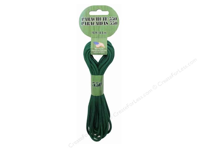 Pepperell 550 Parachute Cord 16 ft. Kelly Green