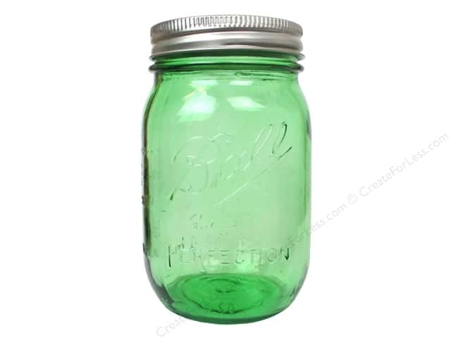 Ball Mason Jars 16 oz. Pint Regular Mouth Heritage Collection Vintage Green (6 pieces)
