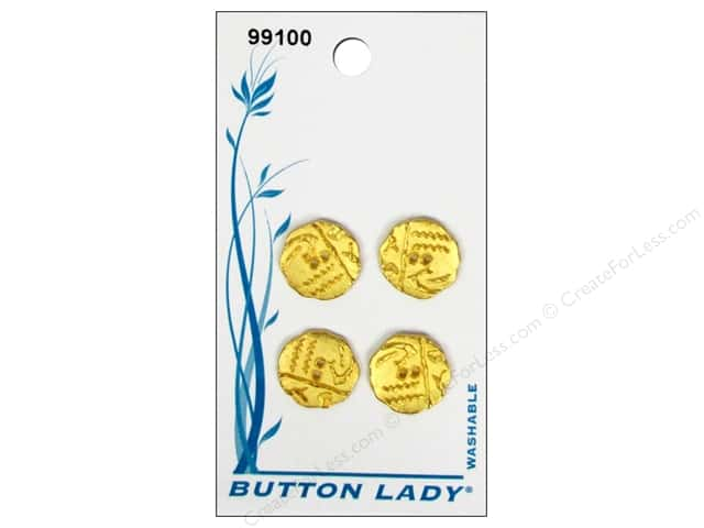 JHB Button Lady Buttons 1/2 in. Matte Gold #99100 4 pc.