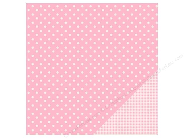 Pebbles 12 x 12 in. Paper Basics Dot Peony (25 sheets)