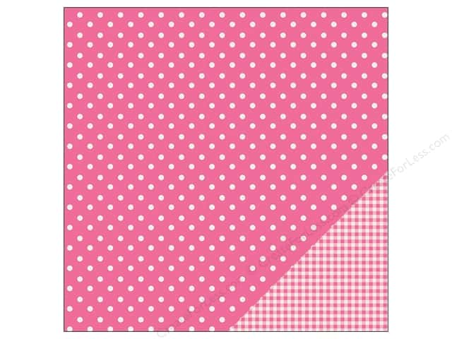 Pebbles 12 x 12 in. Paper Basics Dot Begonia (25 sheets)