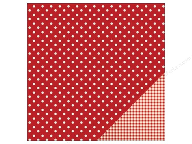 Pebbles 12 x 12 in. Paper Basics Dot Rouge (25 sheets)