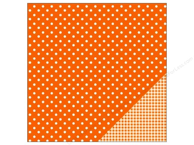 Pebbles 12 x 12 in. Paper Basics Dot Apricot (25 sheets)
