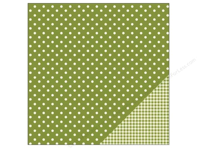 Pebbles 12 x 12 in. Paper Basics Dot Leaf (25 sheets)